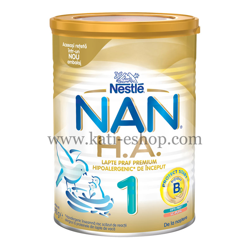 NAN H.A.1 Хипоалергенно мляко 0-6м. 400г