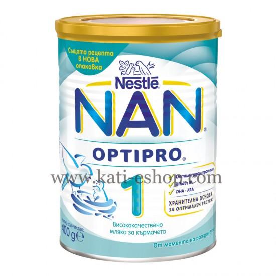 NAN 1 Бебешко адаптирано мляко 0-6м. 400г