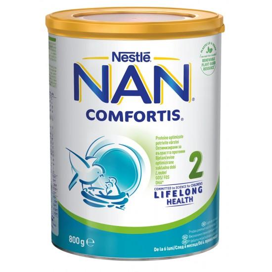NAN Comfortis 2 Бебешко адаптирано мляко 6м.+  800г
