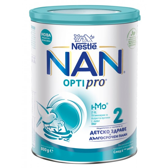 NAN 2 Висококачествено преходно мляко NAN OPTIPRO HM-O 6-12м. 800г