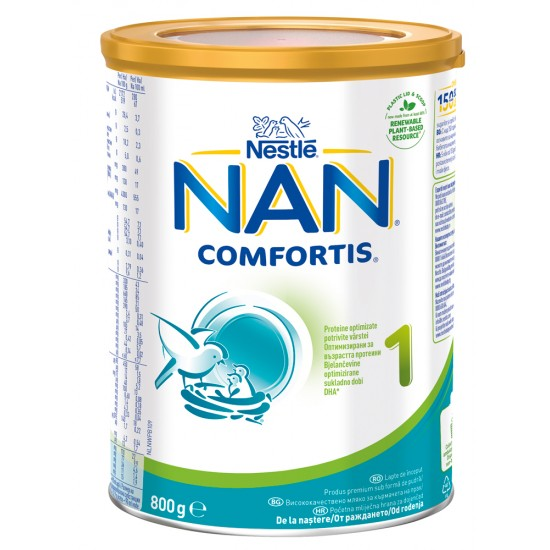 NAN Comfortis 1 Бебешко адаптирано мляко 0-6м. 800г