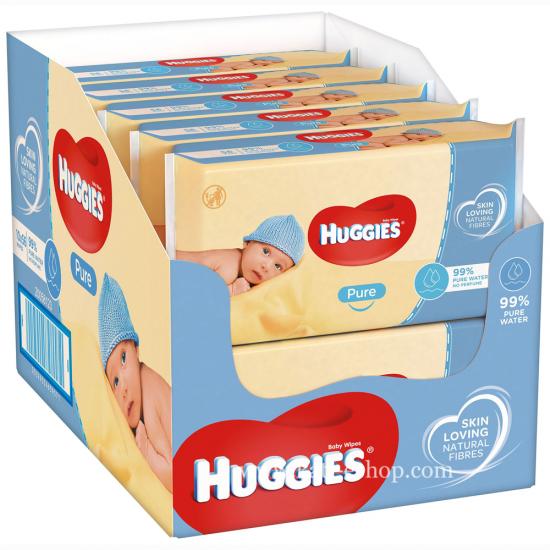 HUGGIES Мокри кърпички Pure 10х56бр.