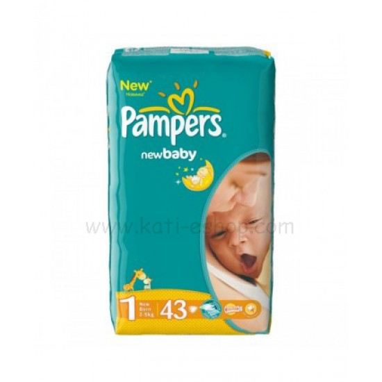 Pampers New Baby 2-5 кг. 43бр.