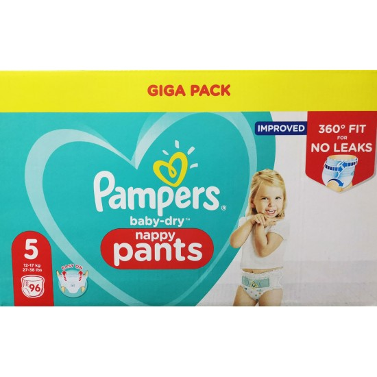 Pampers Гащички за еднократна употреба 5 Junior 12-17 кг - 96бр.