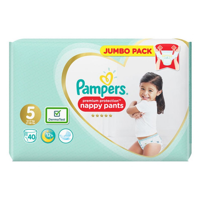 Pampers Premium Protection Гащички за еднократна употреба 5 12-17кг 40бр.