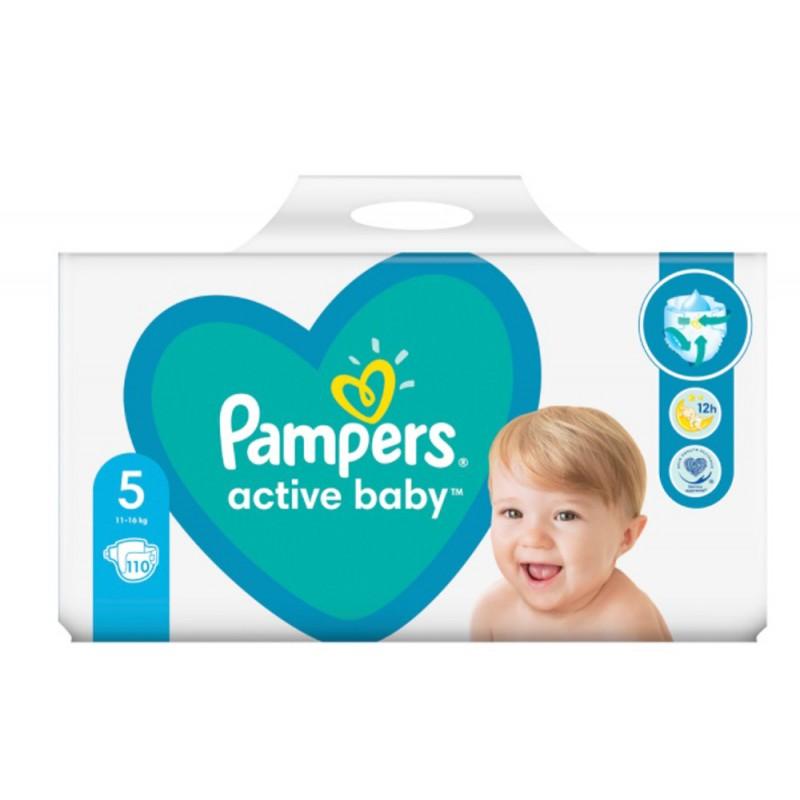 Pampers Пелени Active Baby 5 Junior 11-16 кг 110бр.