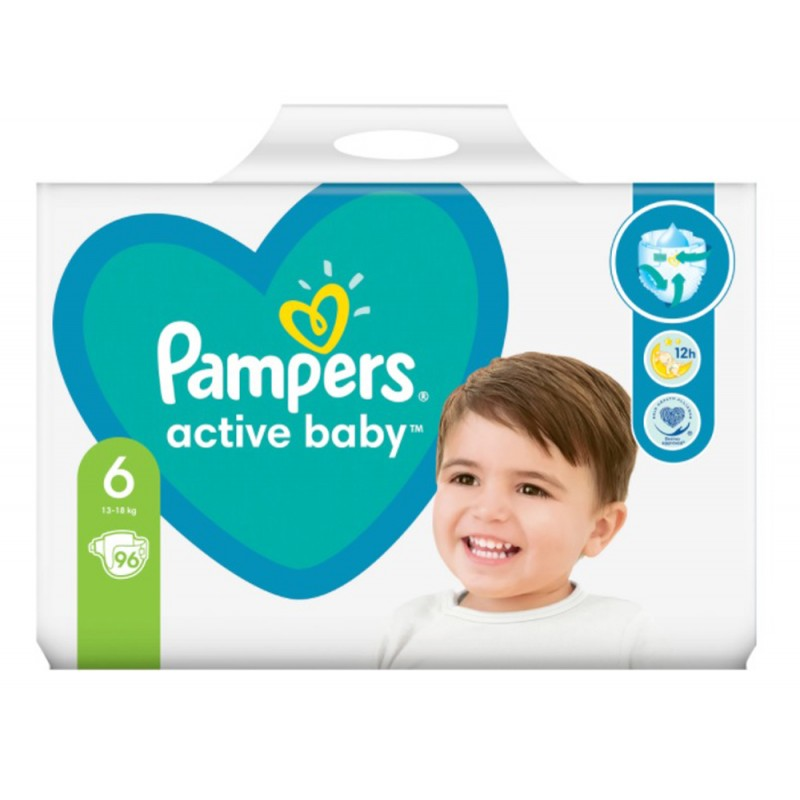 Pampers Active Baby 6 13-18кг 96бр.