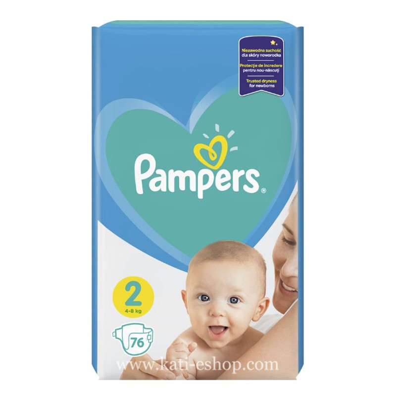 Pampers New Baby 2 Mini 4-8 кг  72бр