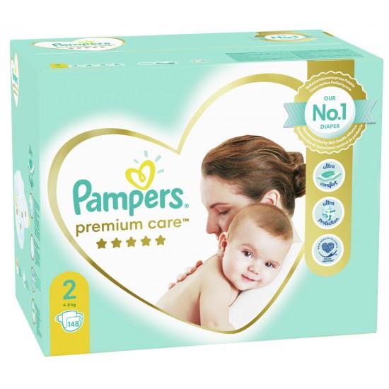 Pampers Premium Care 2 Mini 4-8 кг  - 148бр.