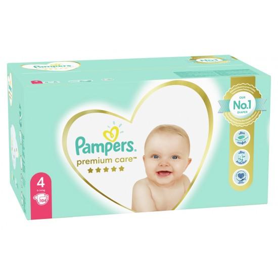 Pampers Premium Care 4 Maxi 9-14 кг  -104бр.
