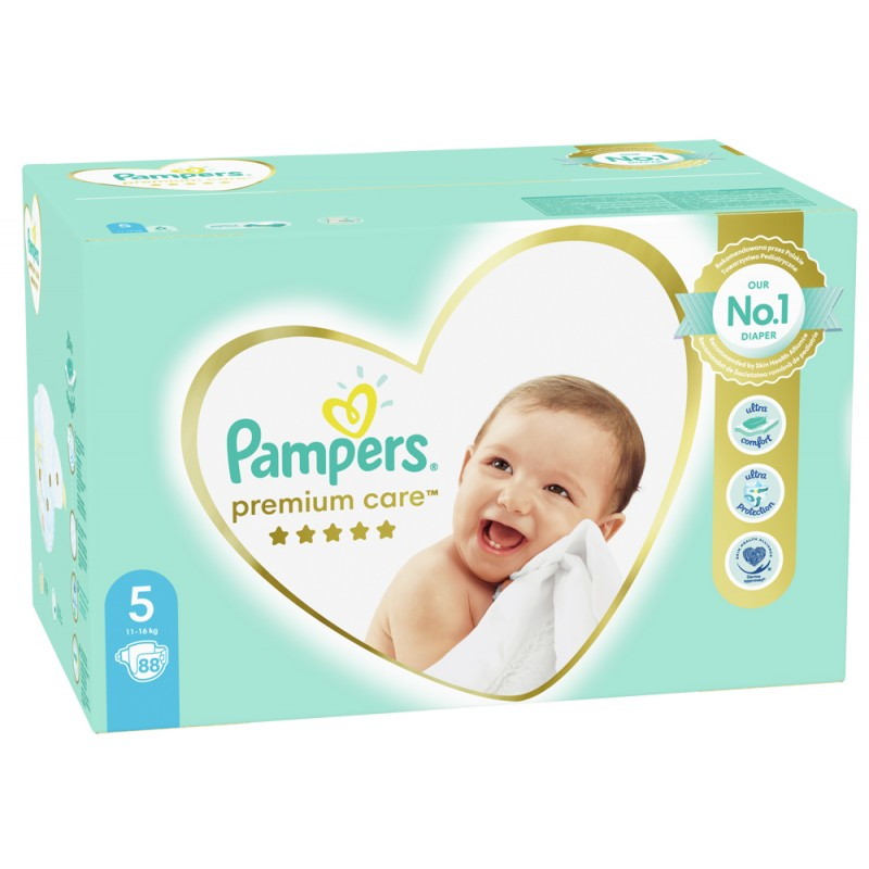Pampers Premium Care 5 Junior 11-16 кг  - 88бр.