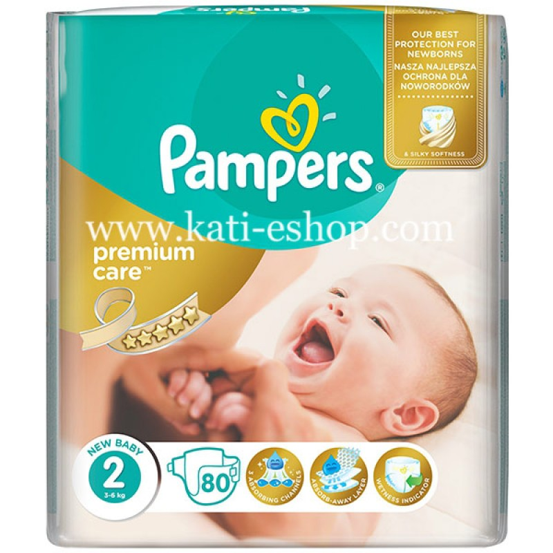 Pampers Premium Care 2 Mini 3-6 кг  - 80бр.