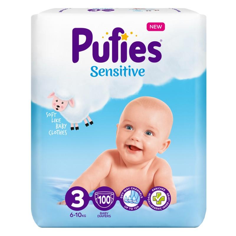 Pufies Sensitive Big Pack 3 Midi 6-10кг 100бр.