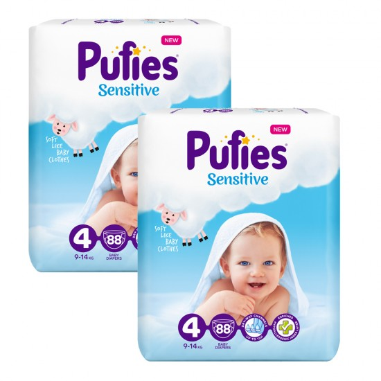 Pufies Sensitive Big Pack 4 Maxi 9-14кг 176бр.