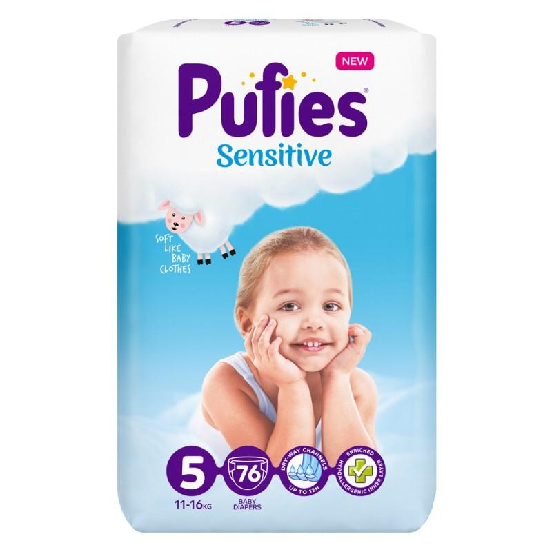 Pufies Sensitive Big Pack 5 Junior 11-16кг 76бр.