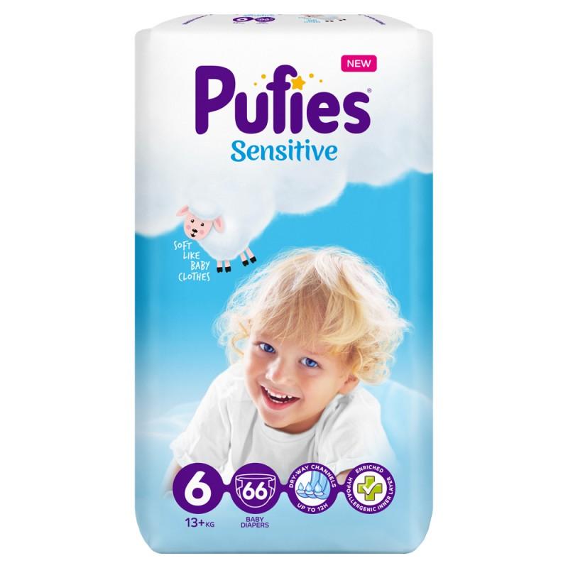 Pufies Sensitive Big Pack 6 Extra Large 13+кг 66бр.