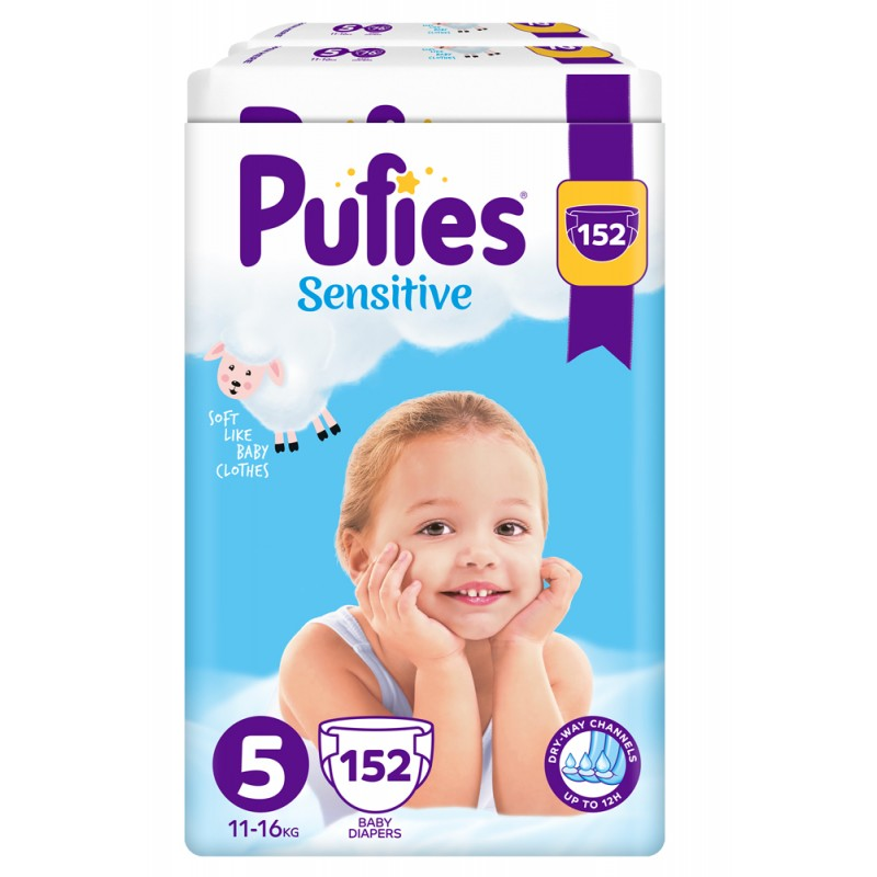 Pufies Sensitive 5 Junior 11-16кг 152бр.