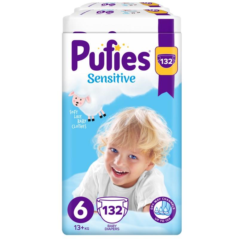 Pufies Sensitive 6 Extra Large 13+кг 132бр.