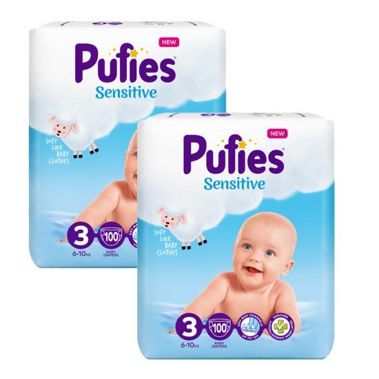 Pufies Sensitive Big Pack 3 Midi 6-10кг 200бр.