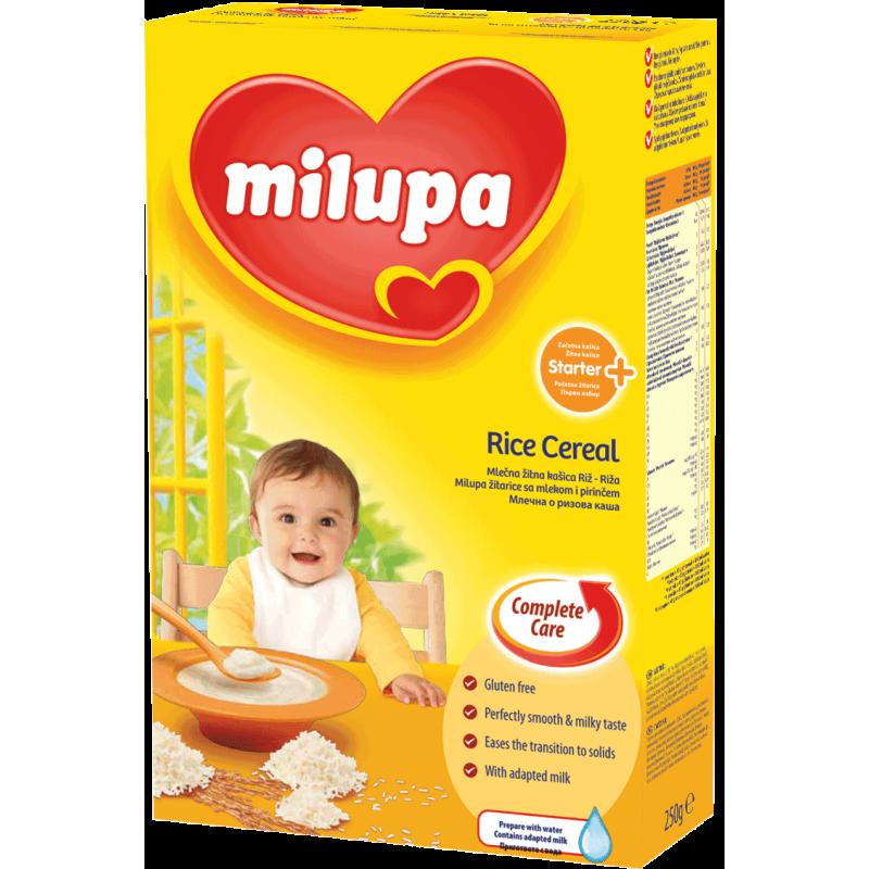 MILUPA Млечна каша ориз 4м 250г
