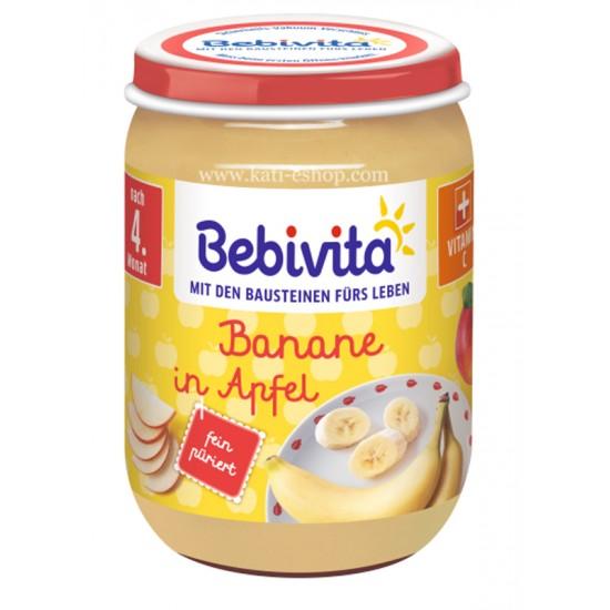 BEBIVITA Ябълка и банан 4м. 190г