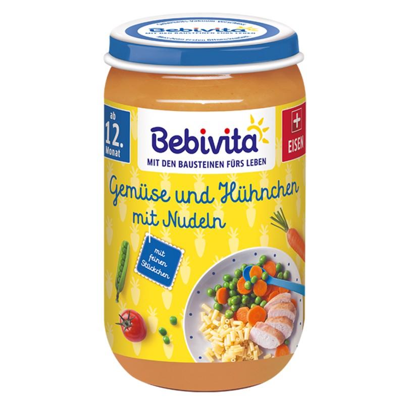 BEBIVITA Зеленчуци, спагети и пилешко месо 12м. 250г