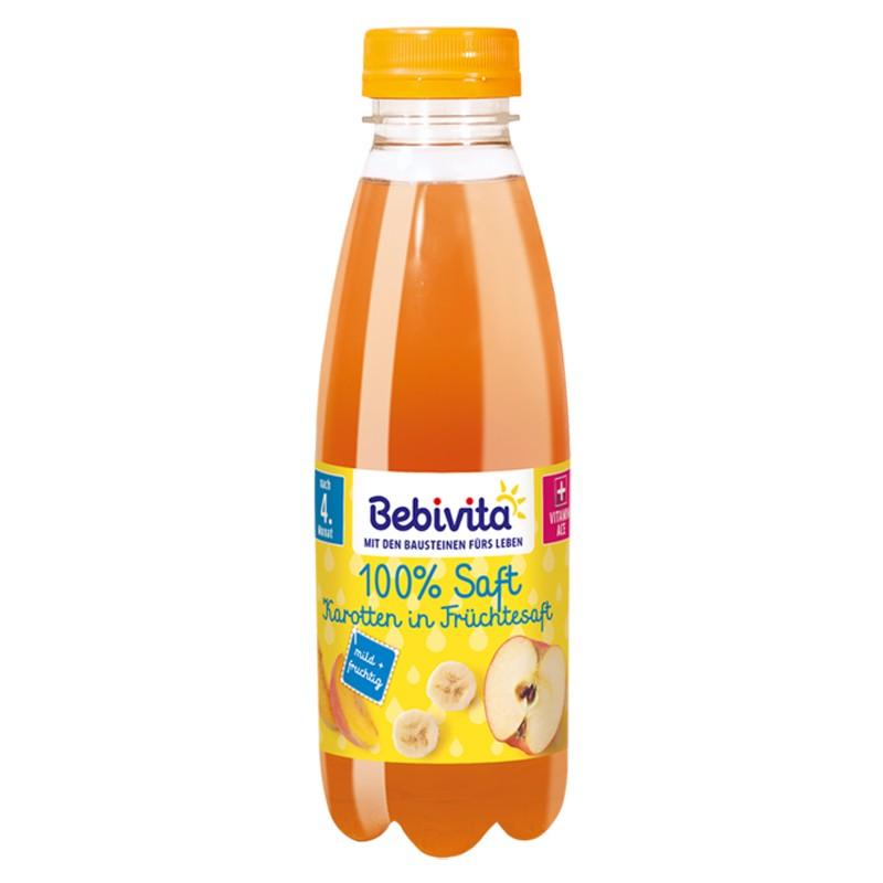 BEBIVITA Сок от плодове и моркови 4м. 500ml