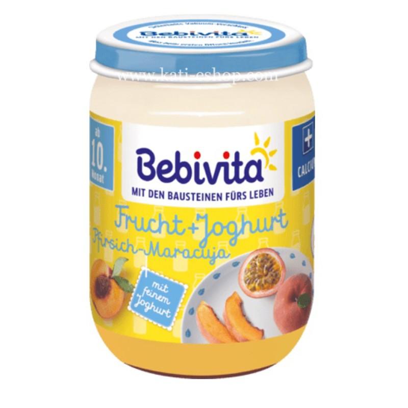 BEBIVITA  Дует йогурт с плодове - праскова и маракуя 10м. 190г