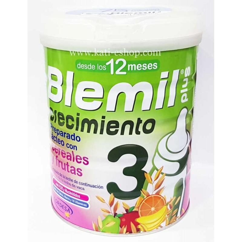 Blemil Плюс 3 със зърнени храни и плодове 12м.+ 800г