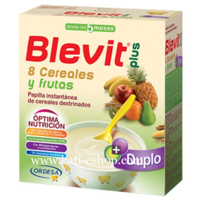 Blevit plus Дупло Каша 8 житни растения с плодове 5м. 600г