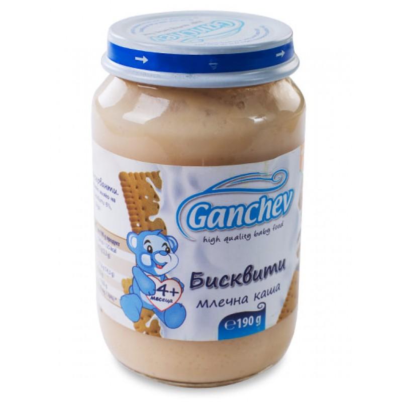 GANCHEV Млечна каша с  бисквити 4м. 190г