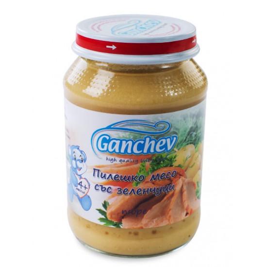 GANCHEV Пюре от пилешко месо със зеленчуци 4м. 190г