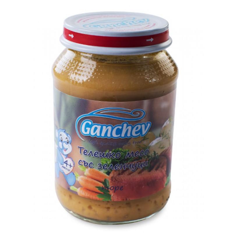 GANCHEV Пюре от телешко месо със зеленчуци 4м. 190г