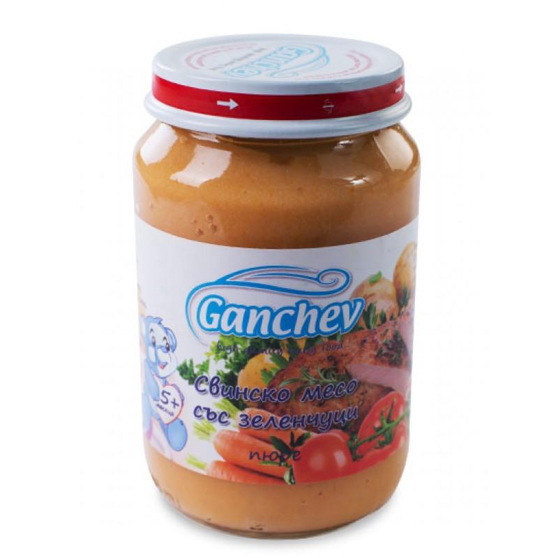 GANCHEV Пюре от свинско месо със зеленчуци 5м. 190г