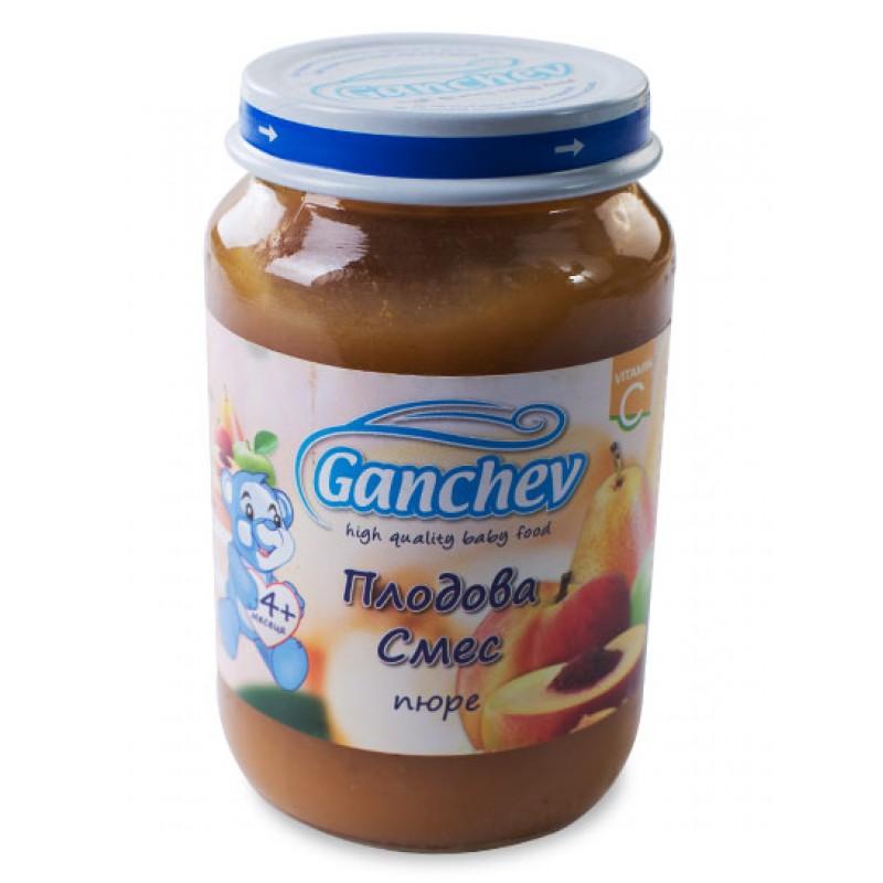GANCHEV Пюре от плодова смес 4м. 190г