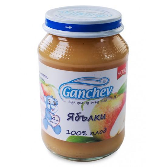 GANCHEV 100% плод - Пюре от ябълки 4м. 190г