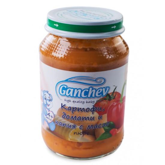 GANCHEV Картофи, домати и капия с масло 4м. 190г