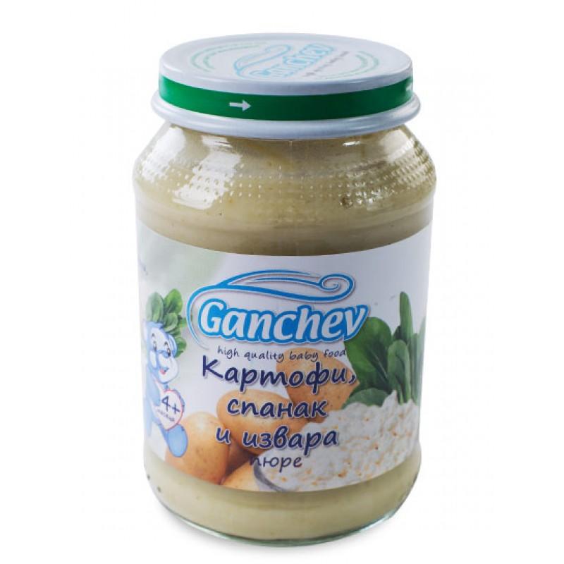 GANCHEV Пюре от картофи със спанак и извара 4м. 190г