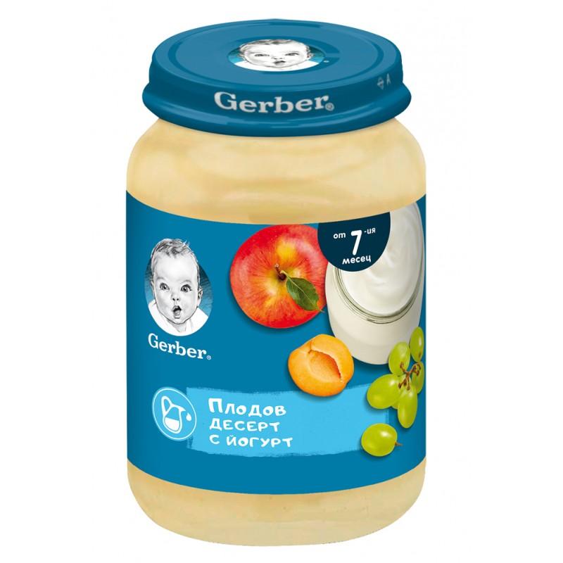 GERBER Плодов десерт йогурт 7м. 190г