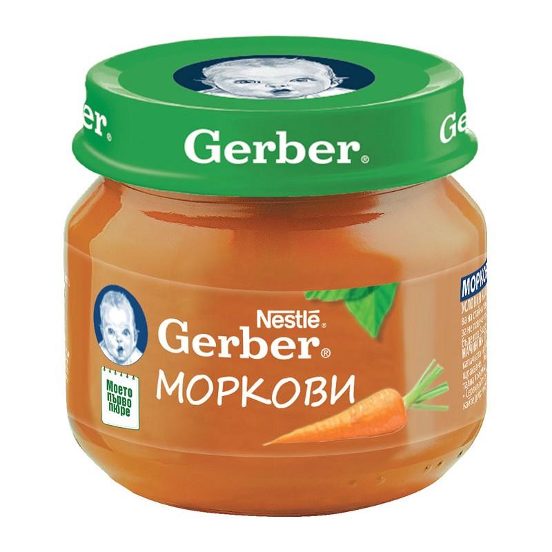 GERBER Пюре от моркови  4м.  80г