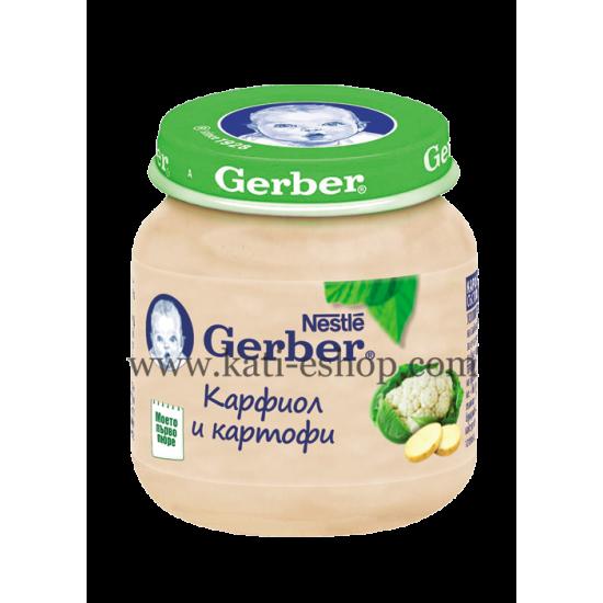 GERBER Пюре от карфиол и картоф 4м. 130 г