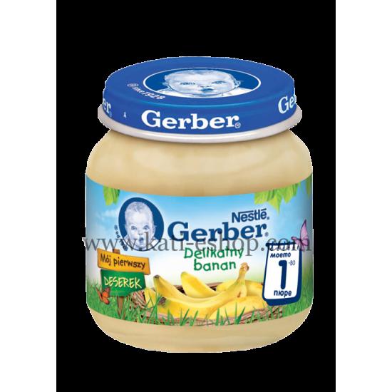 GERBER Пюре от банан 4м. 125г