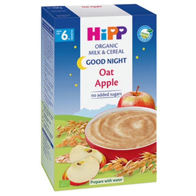 "HiPP БИО Инстантна каша ""Лека нощ"" – овес и ябълка 6м. 250г"