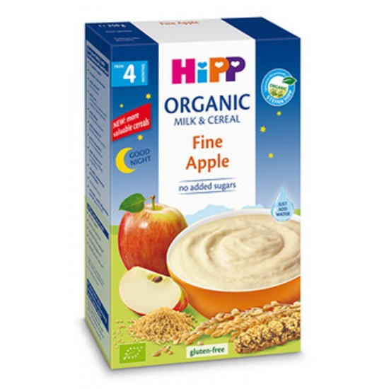 "HiPP БИО Инстантна млечна каша ""Лека нощ"" - мека ябълка 4м. 250г"