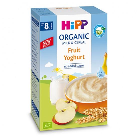 HiPP Инстантна каша плодове с йогурт 8м. 250г