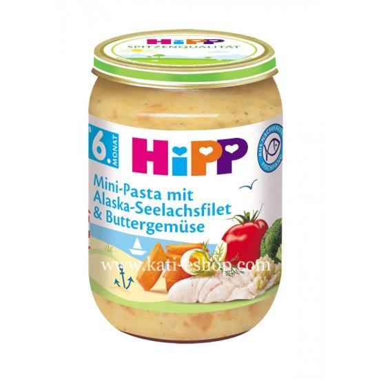 HiPP Паста с филе от треска и зеленчуци в масло 6м. 190г