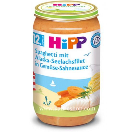 HiPP Спагети с морска треска в зеленчуково - сметанов сос 12м. 250г