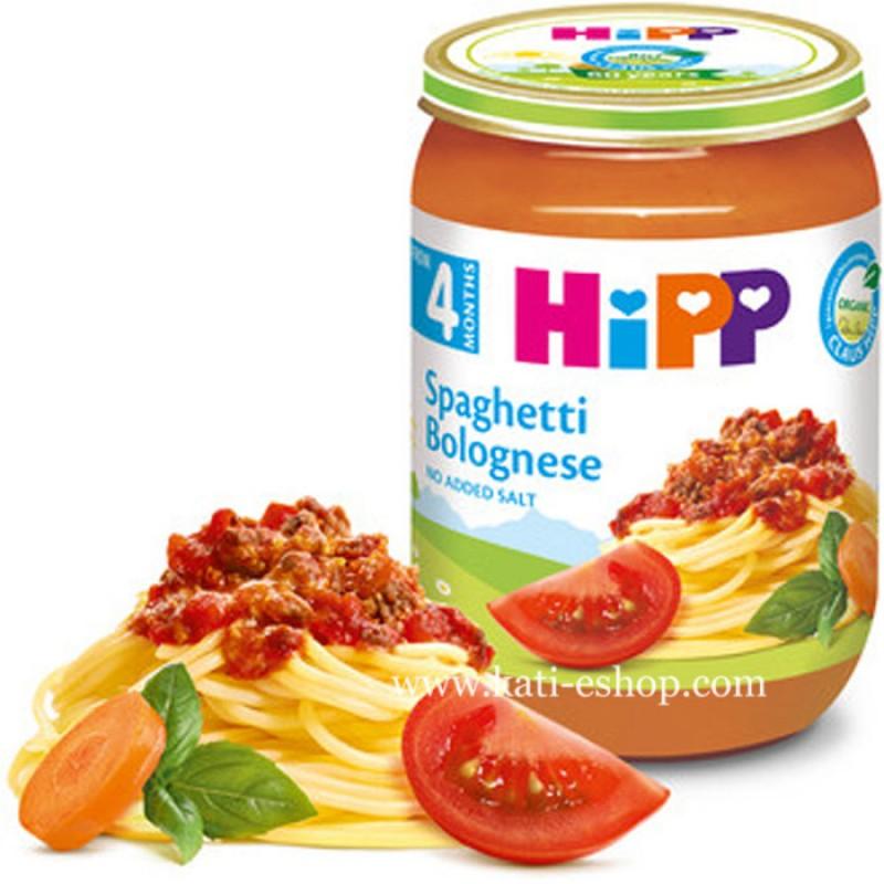 HiPP БИО Спагети Болонезе 4м. 190г