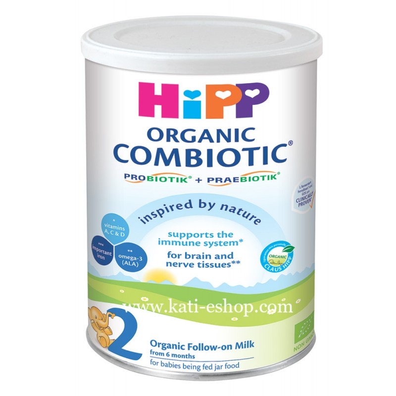 HiPP Organic Combiotic Преходно мляко 6м.+ 350г