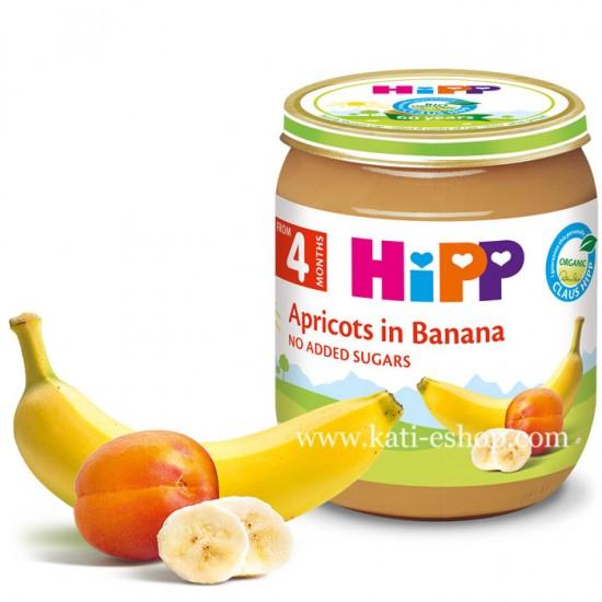 HiPP БИО Банан с кайсия 4м. 125г